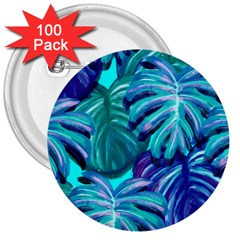 Leaves Tropical Palma Jungle 3  Buttons (100 Pack)