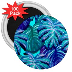 Leaves Tropical Palma Jungle 3  Magnets (100 Pack) by Alisyart