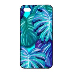 Leaves Tropical Palma Jungle Apple Iphone 4/4s Seamless Case (black)