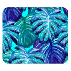Leaves Tropical Palma Jungle Double Sided Flano Blanket (small)  by Alisyart