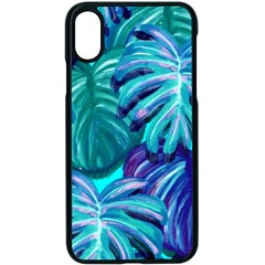 Leaves Tropical Palma Jungle Apple Iphone Xs Seamless Case (black)