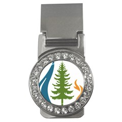 1  Forest Christmas Tree Spruce Money Clips (cz)