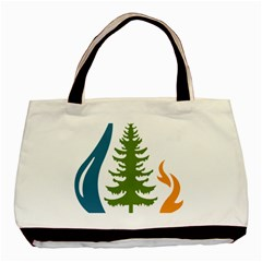 1  Forest Christmas Tree Spruce Basic Tote Bag