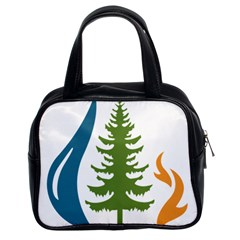1  Forest Christmas Tree Spruce Classic Handbag (two Sides)