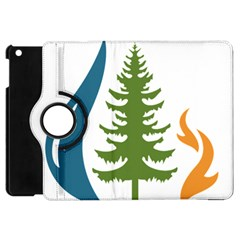 1  Forest Christmas Tree Spruce Apple Ipad Mini Flip 360 Case by AnjaniArt