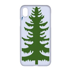 1  Forest Christmas Tree Spruce Apple Iphone Xr Seamless Case (white)