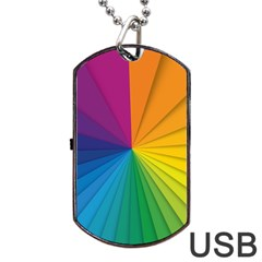 Abstract Pattern Lines Wave Dog Tag Usb Flash (two Sides) by AnjaniArt