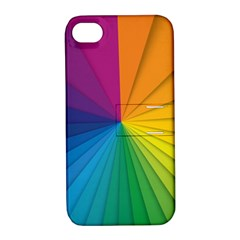 Abstract Pattern Lines Wave Apple Iphone 4/4s Hardshell Case With Stand