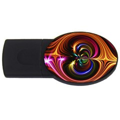 Abstract Line Wave Usb Flash Drive Oval (4 Gb) by AnjaniArt