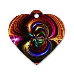Abstract Line Wave Dog Tag Heart (two Sides) by AnjaniArt