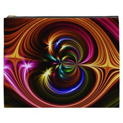 Abstract Line Wave Cosmetic Bag (xxxl)
