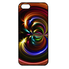 Abstract Line Wave Apple Iphone 5 Seamless Case (black) by AnjaniArt