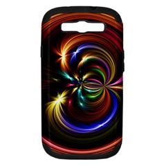 Abstract Line Wave Samsung Galaxy S Iii Hardshell Case (pc+silicone)