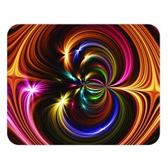 Abstract Line Wave Double Sided Flano Blanket (large)