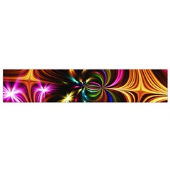 Abstract Line Wave Small Flano Scarf by AnjaniArt