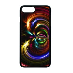 Abstract Line Wave Apple Iphone 7 Plus Seamless Case (black)