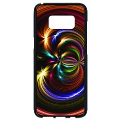 Abstract Line Wave Samsung Galaxy S8 Black Seamless Case