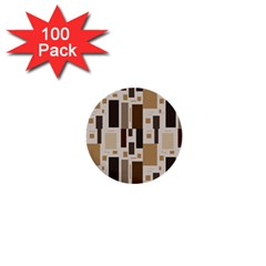 Background Wall Plaid 1  Mini Buttons (100 Pack)