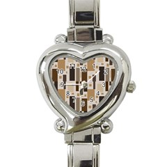 Background Wall Plaid Heart Italian Charm Watch by AnjaniArt