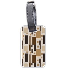 Background Wall Plaid Luggage Tags (two Sides)