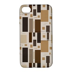 Background Wall Plaid Apple Iphone 4/4s Hardshell Case With Stand