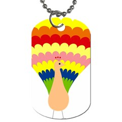 Bird Peacock Pictures Dog Tag (one Side)