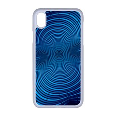 Background Brush Particles Wave Apple Iphone Xr Seamless Case (white)