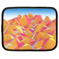 Background Mountains Low Poly Netbook Case (xl)
