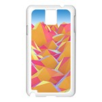 Background Mountains Low Poly Samsung Galaxy Note 3 N9005 Case (White) Front
