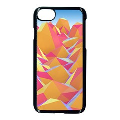 Background Mountains Low Poly Apple Iphone 7 Seamless Case (black) by AnjaniArt