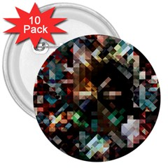 Abstract Texture 3  Buttons (10 Pack)
