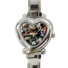 Abstract Texture Heart Italian Charm Watch