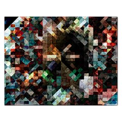 Abstract Texture Rectangular Jigsaw Puzzl by AnjaniArt