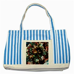 Abstract Texture Striped Blue Tote Bag