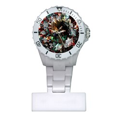 Abstract Texture Plastic Nurses Watch by AnjaniArt