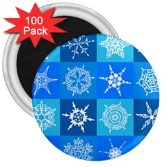 Background Blue Decoration 3  Magnets (100 Pack) by AnjaniArt