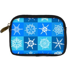 Background Blue Decoration Digital Camera Leather Case