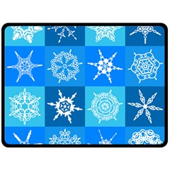 Background Blue Decoration Fleece Blanket (large)