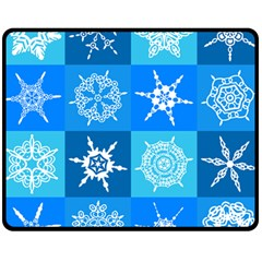 Background Blue Decoration Fleece Blanket (medium)