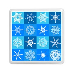 Background Blue Decoration Memory Card Reader (square)