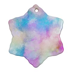 Abstract Watercolor Ornament (snowflake)