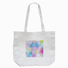 Abstract Watercolor Tote Bag (white)