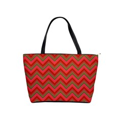 Background Retro Red Zigzag Classic Shoulder Handbag
