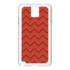 Background Retro Red Zigzag Samsung Galaxy Note 3 N9005 Case (white) by AnjaniArt