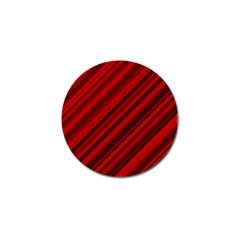 Background Red Lines Golf Ball Marker by AnjaniArt