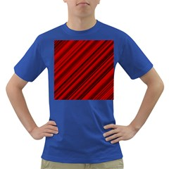 Background Red Lines Dark T Shirt by AnjaniArt