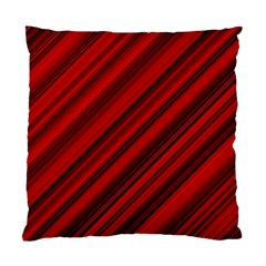 Background Red Lines Standard Cushion Case (two Sides) by AnjaniArt