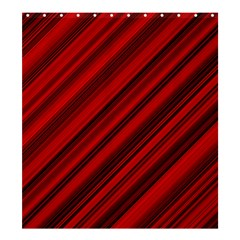 Background Red Lines Shower Curtain 66  X 72  (large)