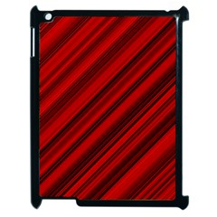 Background Red Lines Apple Ipad 2 Case (black) by AnjaniArt