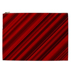 Background Red Lines Cosmetic Bag (xxl)